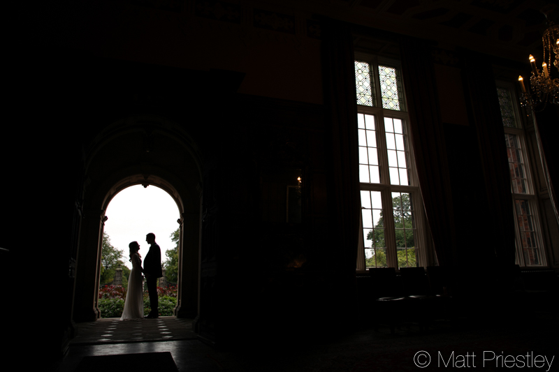 Wedding photography for Rebecca and Gwydion at Arley Hall